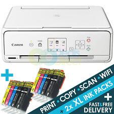 Canon PIXMA TS5051 (white TS5050 ) 3-in-1 WiFi A4 Colour Printer + 2 Sets XL Ink