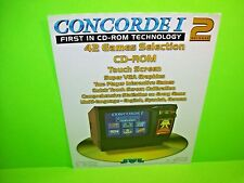 JVL Concord I Original Countertop Video Arcade Game Promo Sales Flyer 2 Release