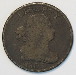 1803 United States 1/2C Draped Bust Half Cent Coin  C0127