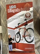 Bike Bicycle Lift Hanger Pulley Rack Hoist Garage Storage Ceiling Mounted