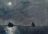 Eastern Point Light Winslow Homer Painting Print on Canvas Seascape Art Small