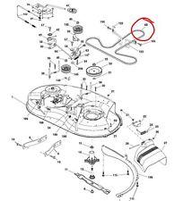 "Husqvarna 38"" cut deck belt LT19538 LTH1438 LTH1538 LTH1797 LTH18538 LTH2038"