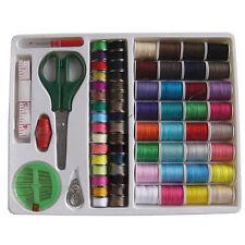 100PC Sewing Kit Thread Threader Needle Tape Storage Box Measure Scissor Thimble