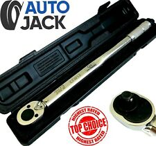 Ratchet Torque Wrench 1/2 Inch Sq Drive Calibrated Tool 28 - 210 Nm Autojack
