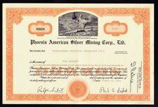 Phoenix American Silver Mining Corp Ltd Nevada dd 1969