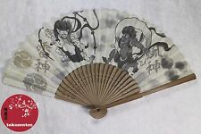 BEL EVENTAIL TRADITIONNEL JAPON FAN UCHIWA SENSU JAPANESE RAIJIN FUJIN GODS NEW
