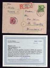 h1720 Handstempel Bezirk 3 Berlin 9 10 Pfennig Ganzsache AS Postkarte geprüft BP