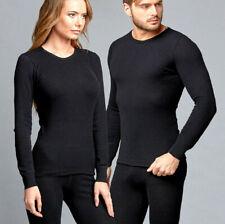 Angora Wool Unisex Black Thermal Long Sleeve Men / Women Undershirt  SIZE XL