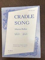 JOHANNES BRAHMS Vintage 1941 Sheet Music CRADLE SONG