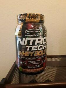 Muscletech Nitro Tech Whey Protein Powder 2.2lbs Double Rich Chocolate