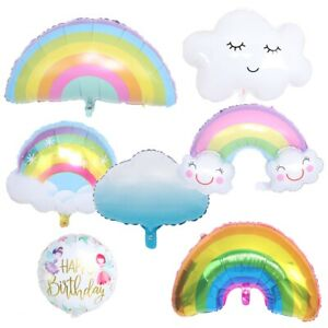Sun Rain Rainbow Tassel Cloud Fairy Hot Air Balloon  Birthday Party Decoration