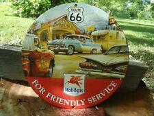 VINTAGE 1959 MOBILGAS ROUTE 66 GASOLINE PORCELAIN GAS STATION SIGN