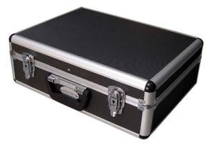 PROFTECH Quality Aluminium Tools /Brief/ Case / Box Large Size Black free postag