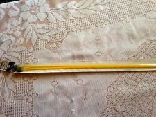 PAIR  KNITTING NEEDLES SIZE 2.75 mm YELLOW * USED *