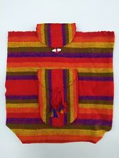 Authentic RASTA Bag Beach Hippie Baja Ethnic Backpack Made in Mexico Unisex A01