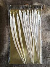 """Vintage Mr. Christmas NOS Package of 12 White Chenille Icicle Ornaments,12"""" Each"""