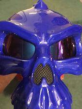 MASEI 489 SKULL FACE MOTORCYCLE BIKE CHOPPER  HELMET&Rainbow Lens