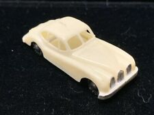 Vintage 1960 Blue Box MGA Jaguar Coupe #7421 White Plastic Hong Kong