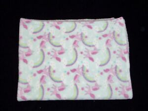 Baby Starters Green Pink Unicorn Rainbow Cloud Blanket Security Lovey