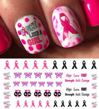 Breast Cancer Awareness Nail Art Waterslide Decals Set #2 - Salon Quality!