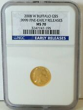Coin Gold 2008 W Buffalo MS 70 $5 NGC EARLY RELEASE As Shown USA SELLER