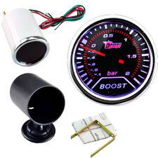"""2"""" KFZ Auto Ladedruck Anzeige LED Turbodruck Instrument + Instrumentenhalter"""
