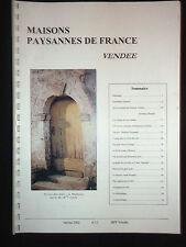 Maisons Paysannes de France - Vendée - N°12 Janvier 2002 - Patrimoine rural -