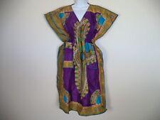 Women's Multi Color Handmade African Traditional Dashiki Dress. OSFA.