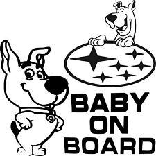 Baby On Board Baby Child Window Bumper Car Sign Decal Sticker Subaru Impreza