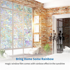 3D Static Privacy Door Window Film Stain Glass Anti UV Home Office Decor New