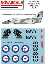 RAN A-4G Skyhawk Mini-Set Decals 1/32 Scale N32059b