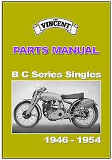 VINCENT Parts Manual B & C Series Singles Comet Meteor 1951 1952 1953 1954