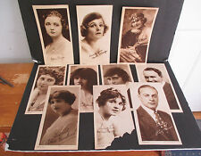 Lot of 10 Early 1900s Movie Star Promotional Photos by The Water Color Co