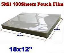 Laminating Pouches 2 1/8 x 3 3/4, 12 x 18 menu size, plastic loops 4,650 pieces!