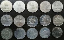 LOT 15 x 100 francs commémorative argent 1982-1994 SERIE dates différente 100F 2