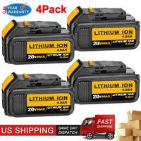 4XFor DEWALT DCB205 20V Max Premium XR Li-ion Battery 4.0AH DCB204 DCB200 DCB206
