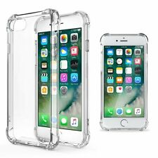 Funda antichoque antigolpes Silicona iPhone 8 Transparente gel tpu reforzada