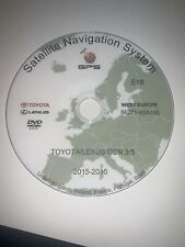 2015/2016 TOYOTA &LEXUS SAT NAV DISC NAVIGATION MAP UPDATE DVD  UK & WEST EUROPE