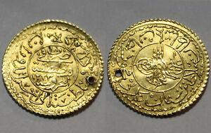 Mahmud II Rare genuine GOLD coin Cedid Adli/Ottoman Empire Turkey Istambul 1826A