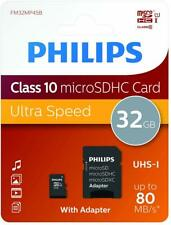 PHILIPS 32GB micro SD  Memory Card For Samsung Galaxy S5 S6 S7 S8 S9 A5 A3 J3 J5