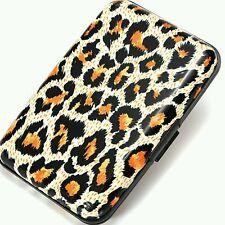Hot Metal Aluminum Business ID Credit Card Case Wallet Yellow leopard