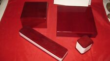 RIVIERA JEWELER 4 WOODEN  JEWELRY BOXES .NEW