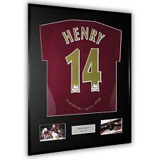 More details for thierry henry signed arsenal shirt framed 14 highbury 2006 redcurrant rare - coa