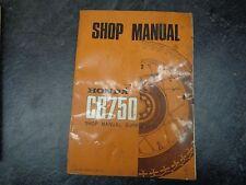 Honda Cb 750 Cb750 Shop Manual Supplement 1005