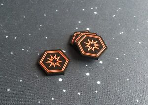 X-Wing 2.0 compatible, acrylic critical tokens - black series