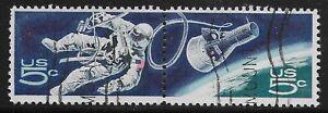 US Scott #1331-32, PAIR 1967 Space 5c FVF Used