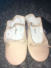 New Dance Class Split Sole Ballet Girls' Toddler-Youth Size 3 Pink Leather