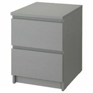 IKEA MALM Kommode 2 Schublade Nachtschrank Nachttisch Beistelltisch Nachtkommode