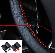 Ultrafine Leather Car Steering Wheel Cover DIY W/Thread Needle Hand Sewing Auto