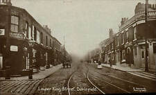 Dukinfield. Lower King Street by E.Howarth, Dukinfield. Cliffe, Printer &c. Shop